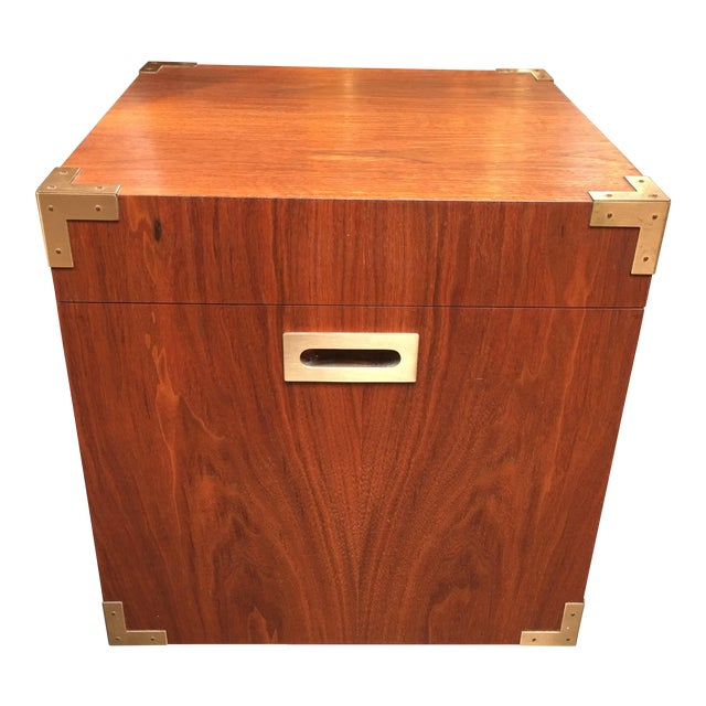 Campaign Style Storage Cube Side Table - Image 1 of 9