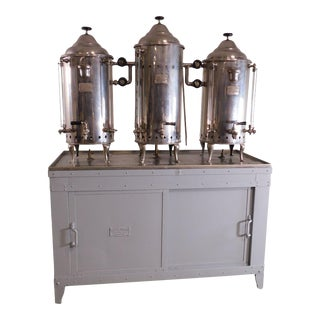 Ransom-Barton Co. Vintage Restaurant Kitchen Coffee Beverage Dispenser & Cabinet For Sale