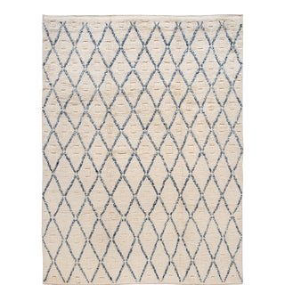 21st Century Modern Moroccan-Style Wool Rug 9 X 12 For Sale