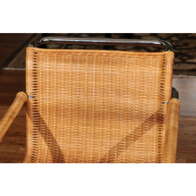 Pristine Set of Eight Italian Wicker Chairs For Sale - Image 10 of 10