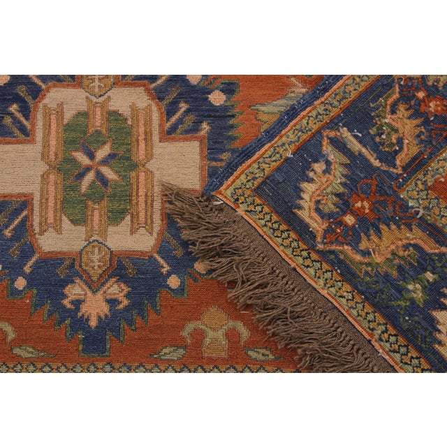 """Textile 1950s Antique Tribal Soumakh Sally Wool Rug - 6'7"""" X 9'2"""" For Sale - Image 7 of 9"""