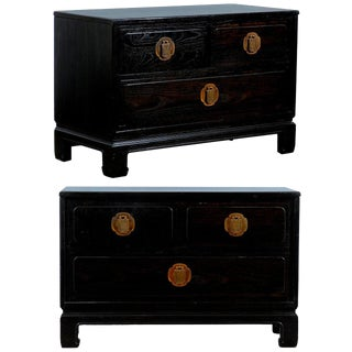 Wonderful Pair of Cerused Oak End Tables/Night Stands For Sale