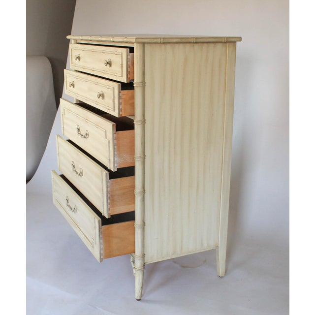 Asian Thomasville Faux Bamboo Chest of Drawers For Sale - Image 3 of 11