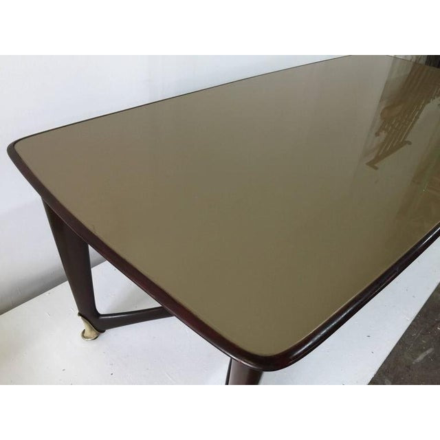 Paolo Buffa Reverse Painted Top and Walnut Italian Dining Table - Image 6 of 8