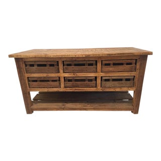 English Traditional Pine Kitchen Island