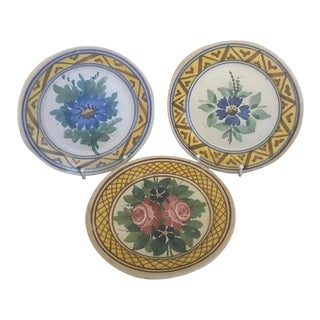 Antique Italian Hand Painted Plates - Set of 3 For Sale
