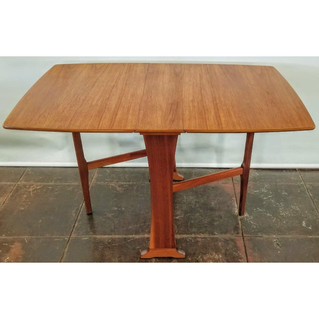 Mid-Century Scottish Modern Style Drop Leaf Table by Legate Scotland For Sale - Image 11 of 11