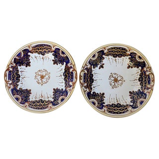 Antique Porcelain Serving Plate - a Pair For Sale