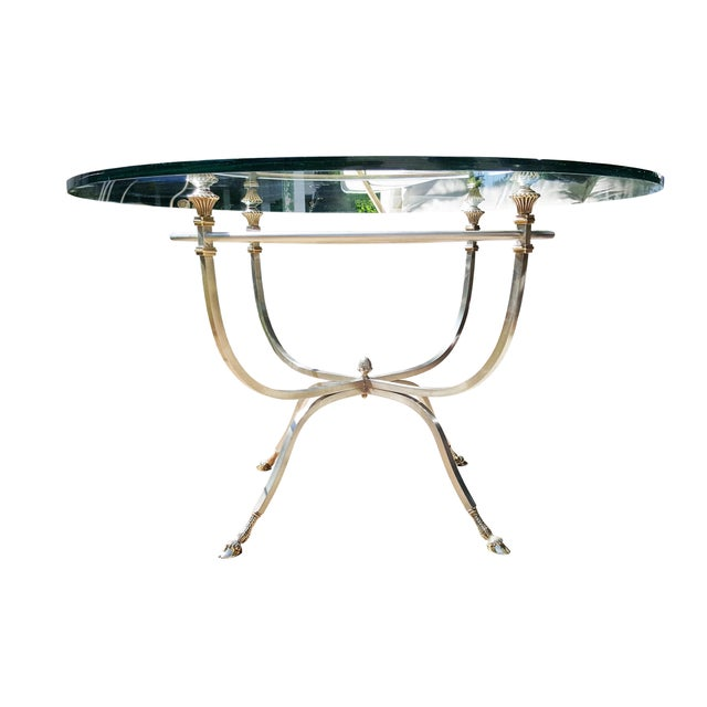 Bronze & Iron Breakfast Table Dining Set For Sale - Image 9 of 12