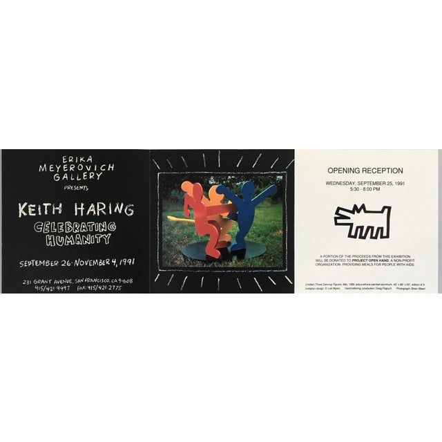 Pop Art Keith Haring Pop Art Announcement 1991 For Sale - Image 3 of 5