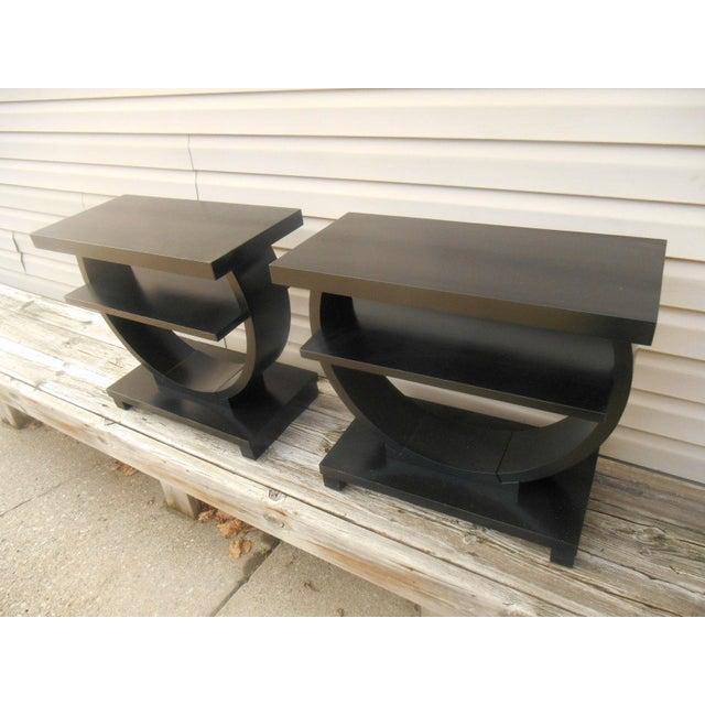 Vintage Brown Saltman Side Tables / End Tables - Set of 2 - Image 7 of 7