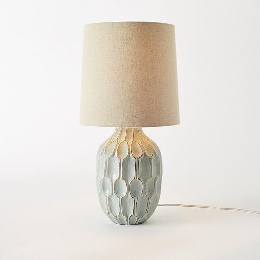 West Elm Handmade Ceramic Lamps - A Pair - Image 7 of 9