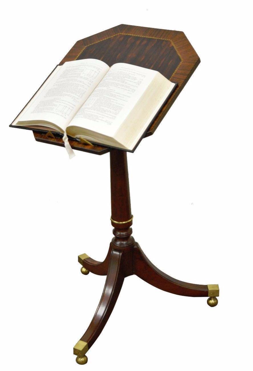 Item: Vintage Baker Furniture Tilt Top Book Stand / Accent Table. Details:  Beautiful