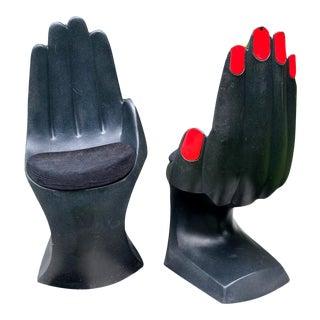 Monumental Vintage Pop Art Plastic Hand Chair - a Pair For Sale