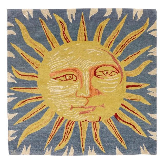 Solana, the Sun Rug, 3' X 3' For Sale