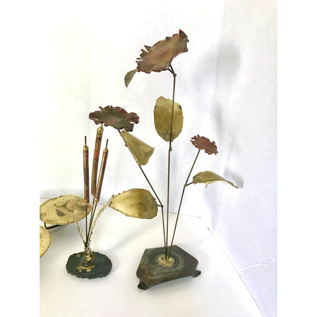 Vintage Botanical Brass Sculptures - Set of 4 - Image 7 of 7