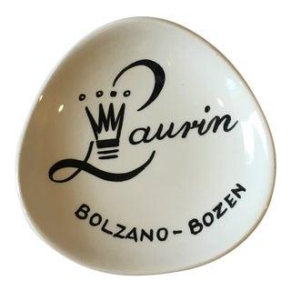 1950s Mid-Century Modern Laurin Park Hotel of Bolzano-Bozen Souvenir Bowl For Sale