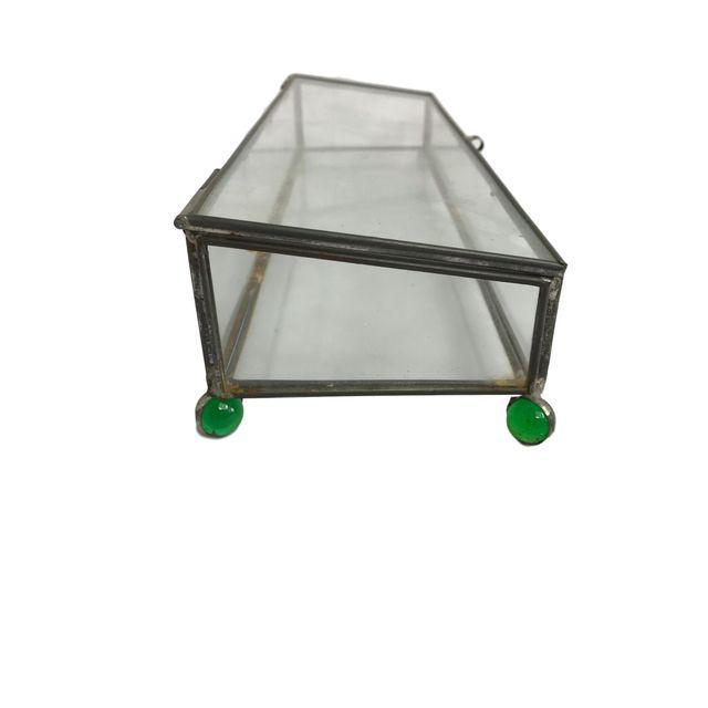 Rectangular Glass Box on 4 Marble Feet - Image 7 of 8