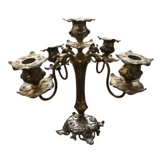 Antique Petite Rotating Candelabra For Sale