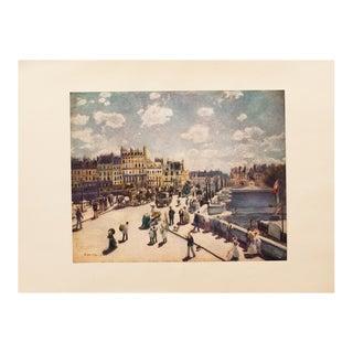 1950s Renoir Paris, Pont Neuf, First Edition Lithograph For Sale