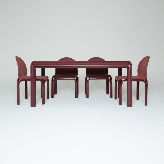 Gae Aulenti Knoll Model No. 54a Dining Set - Image 2 of 9