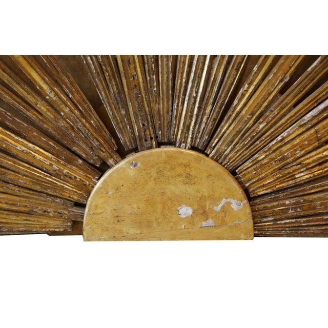 17th-19th c. Monumental Italian Gilded Wooden Church Altar Sunburst c. 1600-1899 For Sale In San Francisco - Image 6 of 9