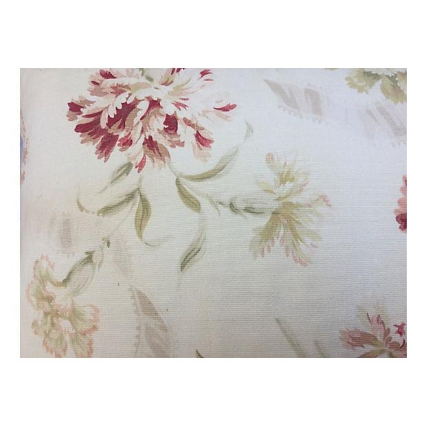 French Faded Floral Pillows - Pair - Image 3 of 5
