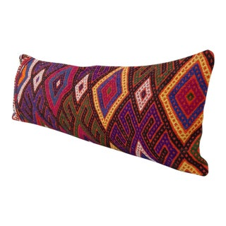 Vintage Handwoven Kilim Pillow Cover For Sale