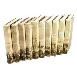 Image Collection NYC Skyline Books - Set of 10 For Sale