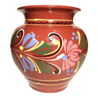 Vintage Mexican Tonala Vase For Sale