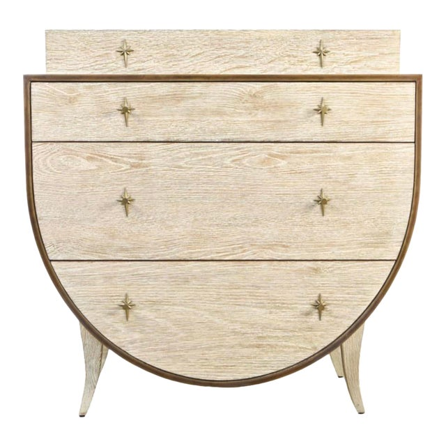 Vintage Cerused Oak Chest of Drawers For Sale