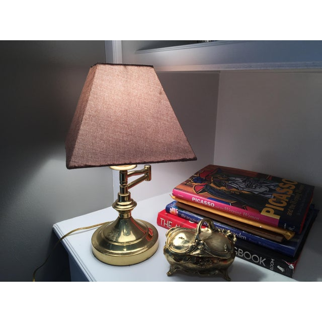 Vintage Mid-Century Swing Arm Brass Accent Lamp - Image 5 of 7