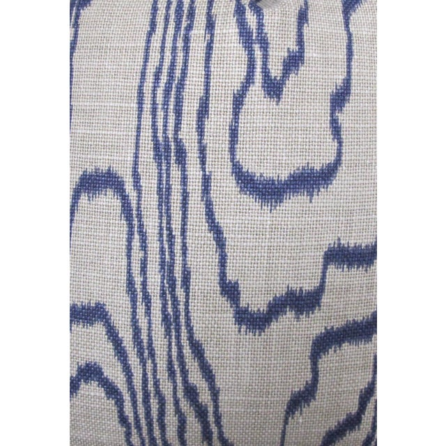 """Contemporary Contemporary """"Slate Blue"""" Swirl Linen Pillow Covers - a Pair For Sale - Image 3 of 6"""
