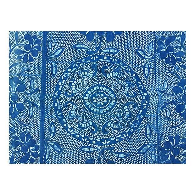 Vintage Indigo Batik Panel - Image 7 of 7