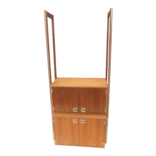 1960s Danish Modern Teak Multi Piece Modular Wall Unit For Sale