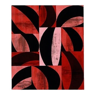 "Charles Arnoldi ""Brig"" Abstract Colorful Black and Red Lithograph For Sale"
