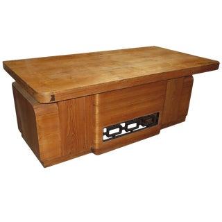 Art Deco Executive Desk in Walnut For Sale