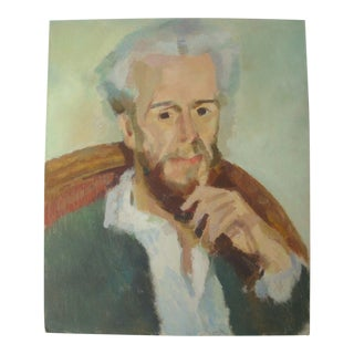 French Portrait Painting of Victor Chocquet After Renoir For Sale