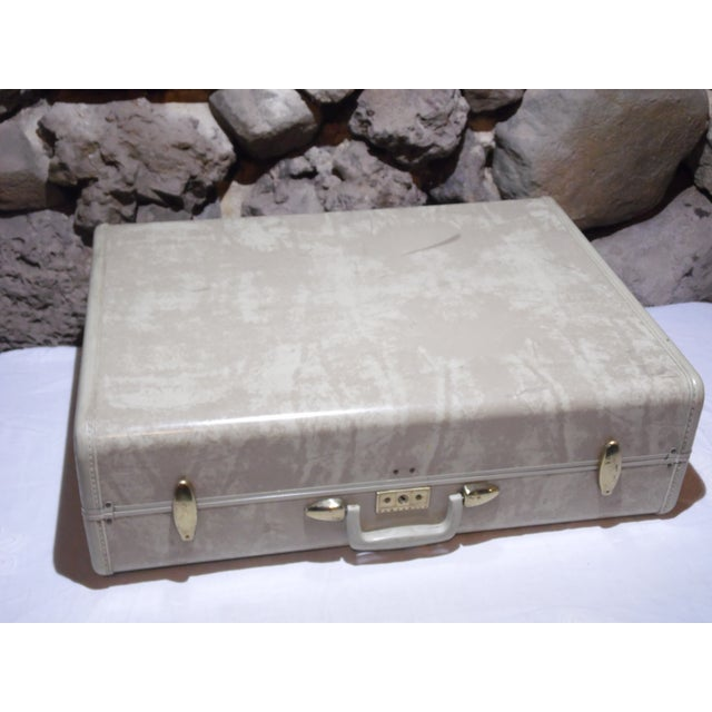 Vintage Samsonite Large Cream Hard Shell Suitcase - Image 3 of 7