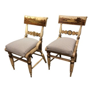 19th Century American Baltimore Painted Fancy Chairs- A Pair For Sale