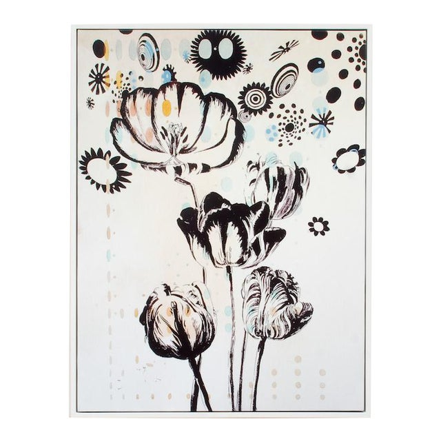 Last Markdown: Tulipiere 220 Framed Fine Art Giclee on Canvas For Sale