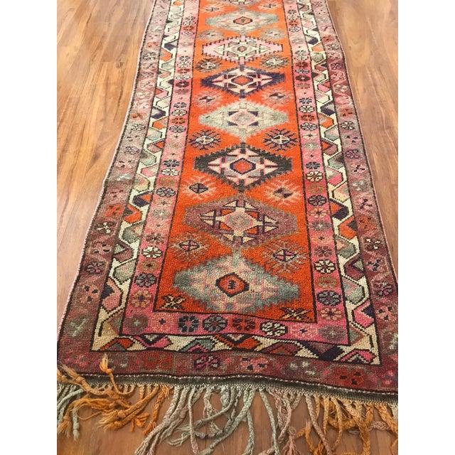 Antique Turkish Long Herki Runner Rug For Sale - Image 4 of 8