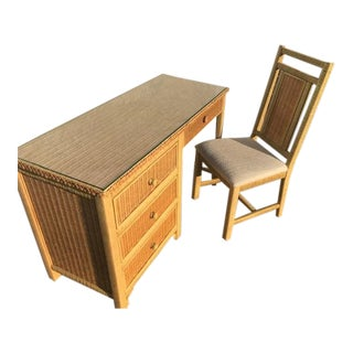 1970s Vintage Henry Link Desk Set For Sale