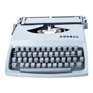 1966 Suitcase Typewriter, Consul Type 231.3, Czechoslovakia For Sale