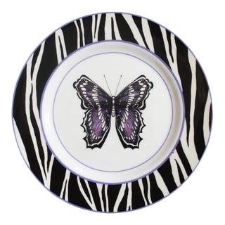 Handmade Bone China Zephyr Dinner Plate For Sale