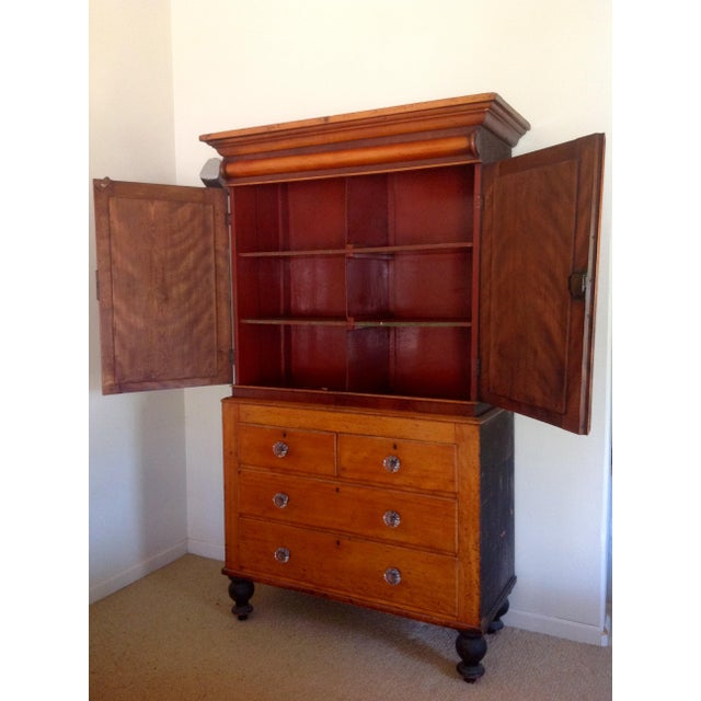 Antique American Pine Armoire - Image 3 of 11