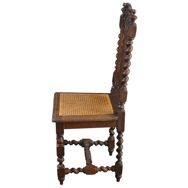 Antique Renaissance-Style Hunt Chairs - Set of 6 For Sale - Image 6 of 8