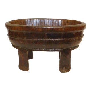 1960s Chinese Wooden Water Bucket