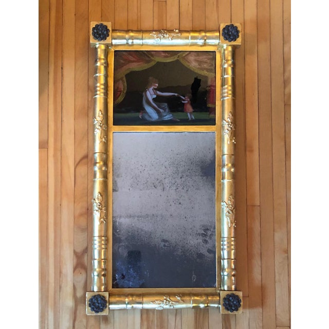 19th Century American Gilt Eglomise Original Wall Mirror For Sale - Image 13 of 13