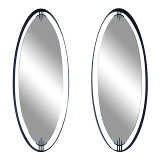 Ettore Sottsass Attributed Modernist Italian Mirror - A Pair For Sale